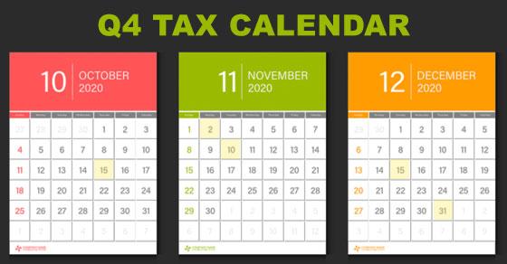 G4 tax calendar