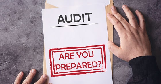 Piece of paper that says Audit: Are you Prepared?